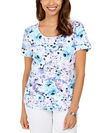 Petite Floral-Print Top, Created for Macy's