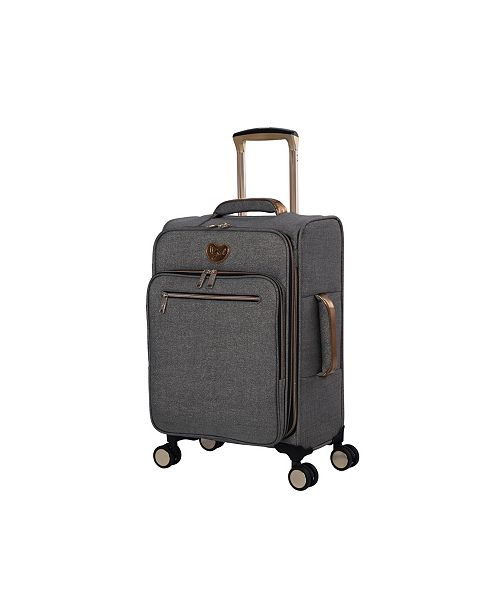 """it Girl 22"""" Glisten Softside Semi-Expandable Carry-On Suitcase"""