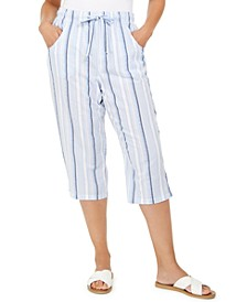 Petite Cotton Striped Pants, Created for Macy's