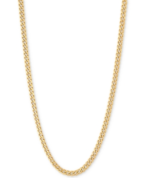 """Miami Cuban Link 22"""" Chain Necklace (3mm) in 14k Gold"""