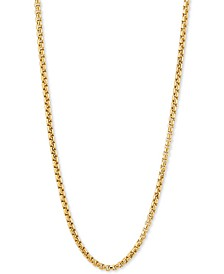 "Rounded Box 24"" Chain Necklace in 14k Gold"