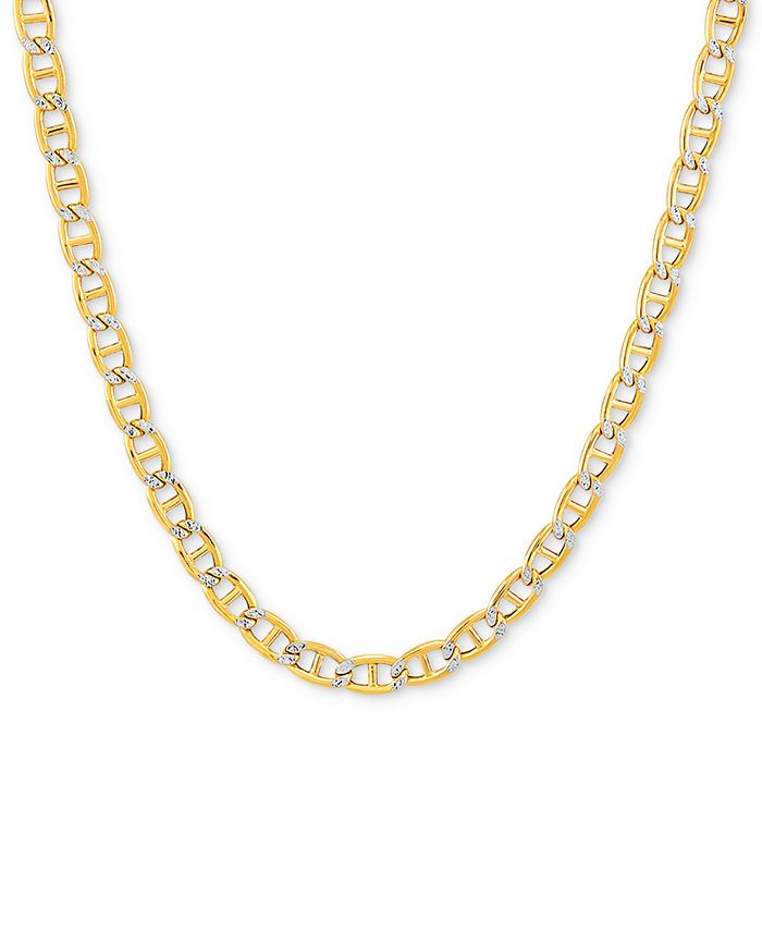 """Italian Gold - Two-Tone Mariner Link 24"""" Chain Necklace"""