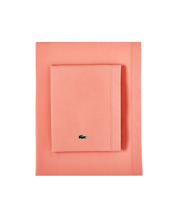 Lacoste Home Lacoste Percale California King Solid Sheet Set
