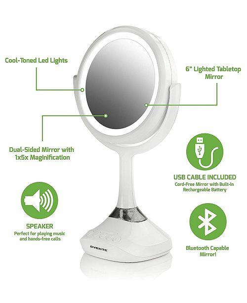 OVENTE Vanity Mirror with Speaker