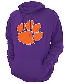 Men's Clemson Tigers Screenprint Big Logo Hooded Sweatshirt