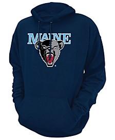 Men's Maine Black Bears Screenprint Big Logo Hooded Sweatshirt