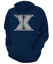 Men's Xavier Musketeers Screenprint Big Logo Hooded Sweatshirt