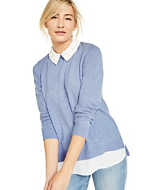 Layered-Look Cashmere Sweater, Created for Macy's