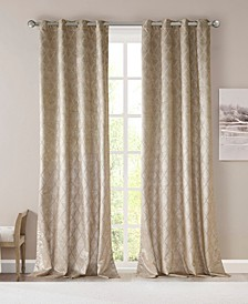 "Taylor 50"" x 108"" Diamond Jacquard Total Blackout Window Panel"