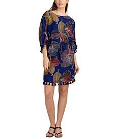 Printed Tassel-Trim Dress