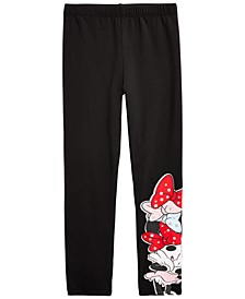 Little Girls Minnie Mouse Bows Leggings