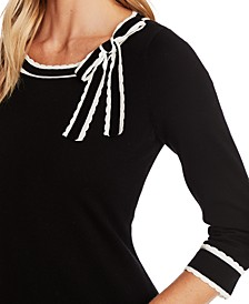 3/4-Sleeve Bow Sweater