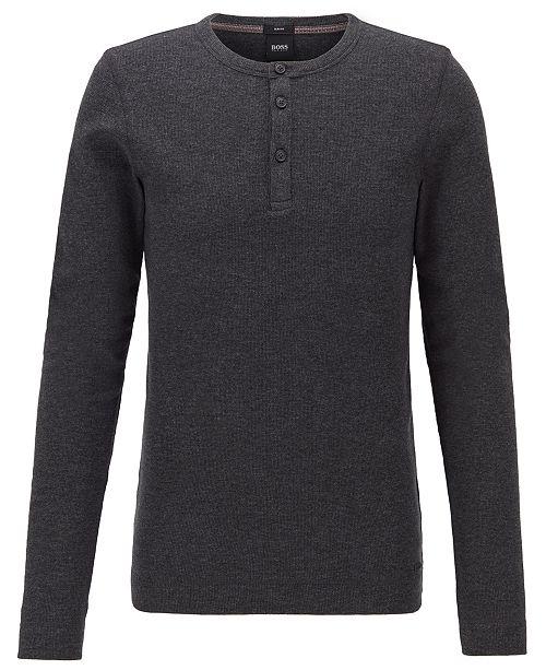 Hugo Boss BOSS Men's Trix Slim-Fit Henley T-Shirt