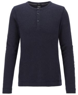 Boss Men's Slim-Fit Henley T-Shirt