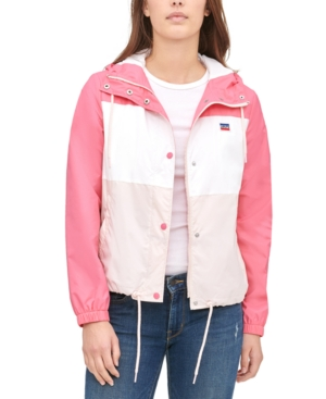 80s Windbreakers, Jackets, Coats Levis Womens Retro Hooded Windbreaker $49.99 AT vintagedancer.com
