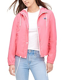 Women's Retro Hooded Windbreaker