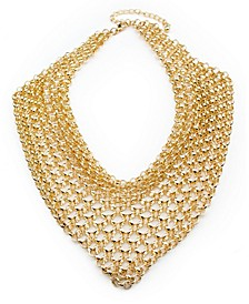 Metal Statement Chainmail Bib Necklace