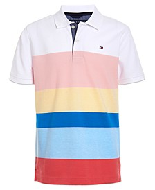 Toddler Boys Colorblocked Stripe Polo Shirt