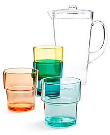So-Cal Acrylic Pitcher 5-Pc. Set, Created for Macy's