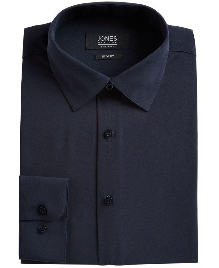 Jones New York - Men's Slim-Fit Stretch Cooling Tech Dress Shirt
