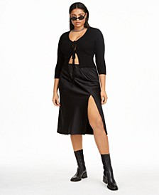 Plus Size Tie Front Cardigan, Created for Macy's
