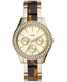 Women's Stella Gold-Tone Stainless Steel & Acetate Bracelet Watch 38mm