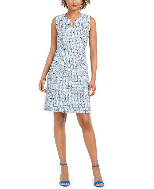 Karl Lagerfeld Paris Karl Lagerfeld Sleeveless Tweed Sheath Dress
