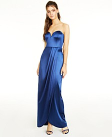 Juniors' Sweetheart-Neck Strapless Gown, Created for Macy's