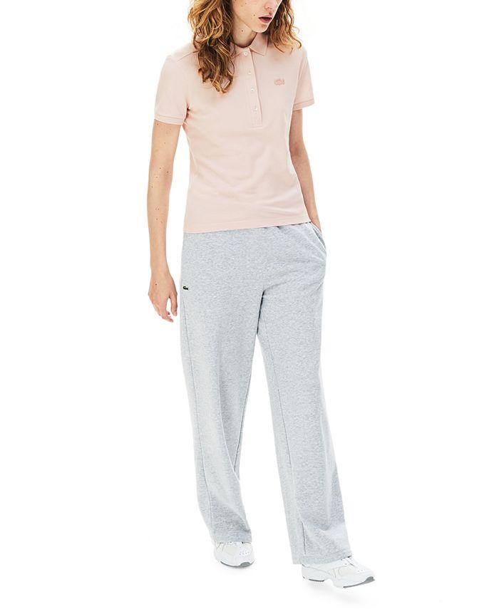 Lacoste - Women's Slim-Fit Short-Sleeve Stretch Piqué Polo Shirt