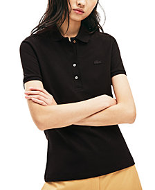 Lacoste Women's Slim-Fit Short-Sleeve Stretch Piqué Polo Shirt