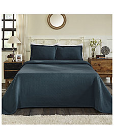 Superior Basket Weave Jacquard Matelasse 3 Piece Bedspread Set, Full