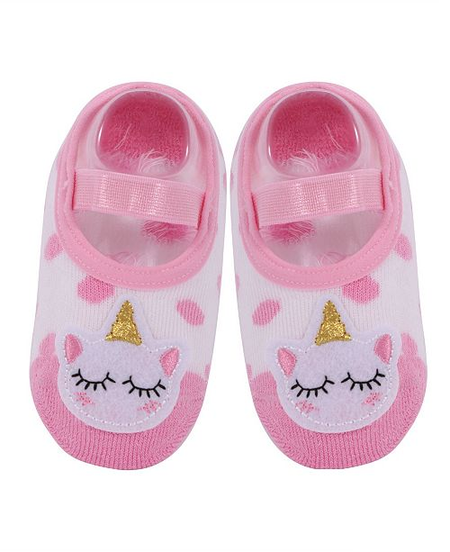 NWALKS Baby Boys and Girls Anti-Slip Cotton Socks with Unicorn Applique