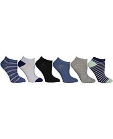 Ladies Low Cut Socks, Pack of 6