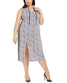 Plus Size Logo-Print Hooded Dress
