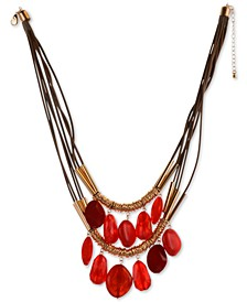"Shaky Bead Double-Row Statement Necklace, 21-1/2"" + 3"" extender, Created for Macy's"