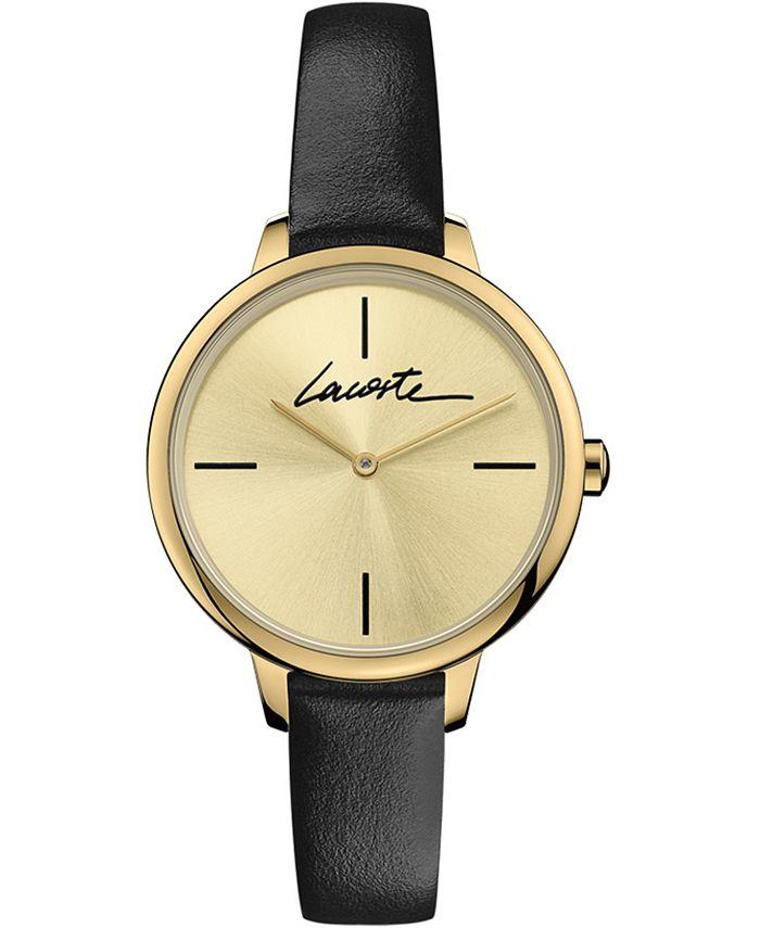 Lacoste - Women's Swiss Cannes Urban Black Leather Strap Watch 34mm