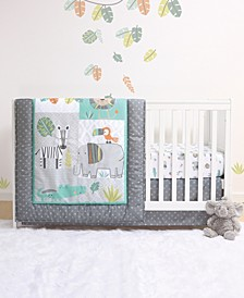 Safari 4-Piece Crib Bedding Set