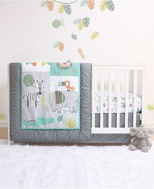 Belle Safari 4-Piece Crib Bedding Set