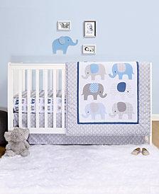 Belle Sleepy Elephant 4-Piece Crib Bedding Set