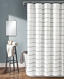 "Ombre Stripe Yarn Dyed Cotton 72"" x 72"" Shower Curtain"