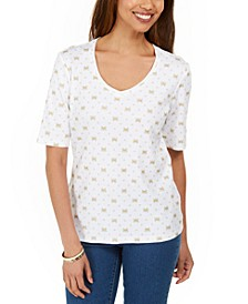 Petite Butterfly-Print Top, Created for Macy's