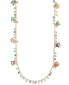 "INC Gold-Tone Shaky Bead & Flower Statement Necklace, 18"" + 3"" extender, Created for Macy's"