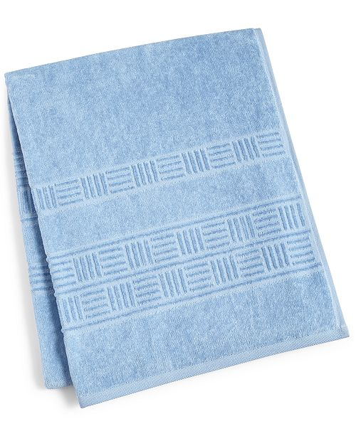 "Mainstream International Inc. CLOSEOUT! Basket Weave Cotton 30"" x 54"" Bath Towel"