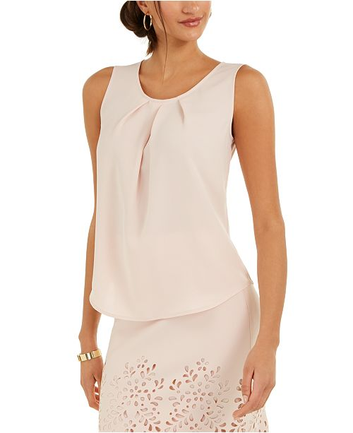 Nine West Pleated-Neck Camisole
