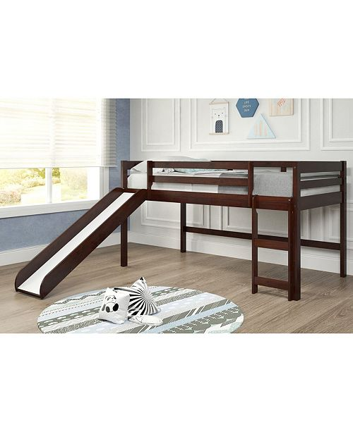 Chelsea Home Furniture Chocolate Mini Loft with Slide