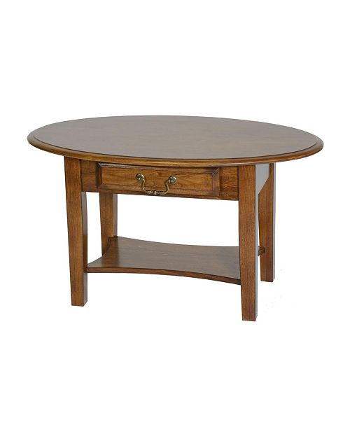 Chelsea Home Furniture Tyler Coffee Table with Drawer Burnished Walnut