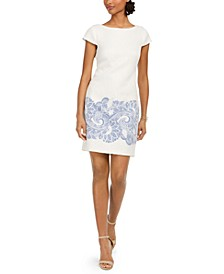 Petite Paisley-Print Sheath Dress