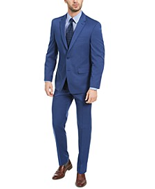 Men's Classic-Fit Blue Solid Suit