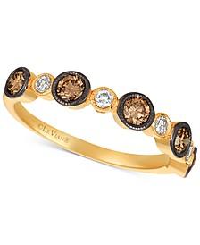 Chocolatier® Diamond Bezel Statement Ring (3/4 ct. t.w.) in 14k Gold