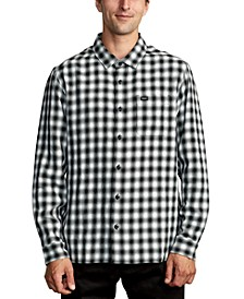 Men's Telegraphc Relaxed-Fit Plaid Flannel Shirt